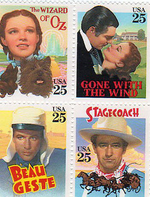 Collectible Wizard of Oz Judy Garland Classic Movie Stamps Mint Stamp Beau Geste