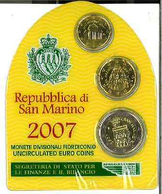 Republic of San Marino 2007 Three Coins