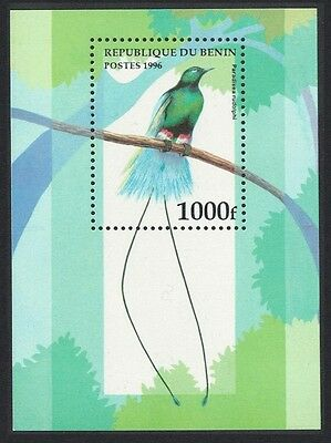 Benin Blue Bird of Paradise MS SG#MS1431