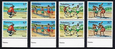 Tokelau Local Sports 4v Pairs with bottom selvages SG#69/72 SC#69-72
