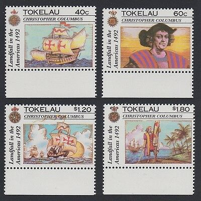 Tokelau 500th Anniversary of Discovery of America 4v bottom margins SG#193/96