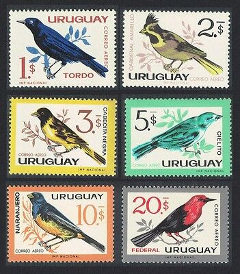 Uruguay Birds 6v Airmail issue 1963 MH SG#1212//19 SC#C258-C263 CV£40+