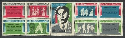 Uruguay Birth Centenary of Florencio Sanchez dramatist 5v SG#1611/15