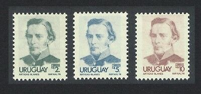 Uruguay Artigas Definitives 3v the Highest Values SG#1649/1651a