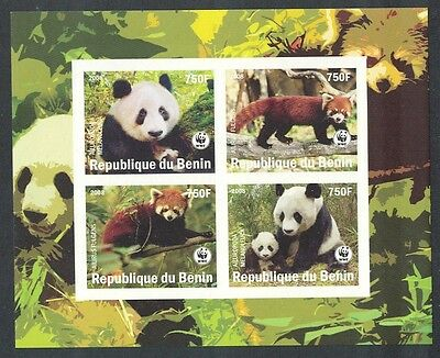 Benin WWF Panda Imperf Sheetlet of 4v