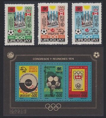 Uruguay Football World Championship Winter and Summer Olympic Games 3v+MS