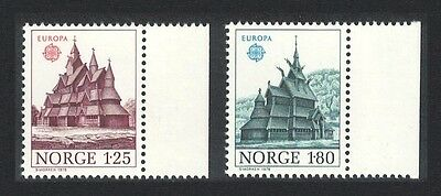 Norway Europa Churches 2v Right Margins SG#813/14