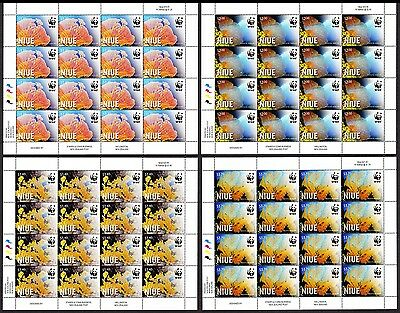 Niue WWF Giant Sea Fan 4 Full Sheets 16 sets