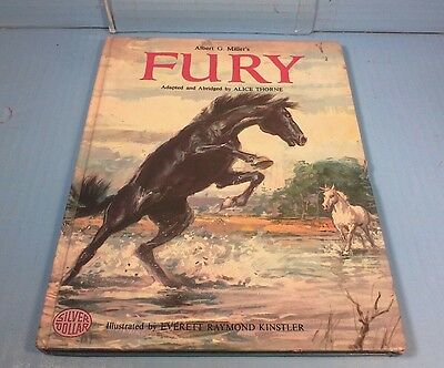 Childrens Horse Storybook Albert G. Miller's Fury 1964 - Illustrated by Kinstler