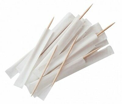 Box Of 1000 Wooden Individually Paper Wrapped Toothpicks Bar Catering Equipment