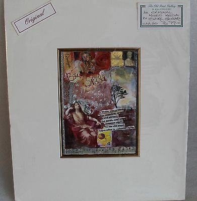 Claire Gerrard Mixed Media Original Collage  Sealed