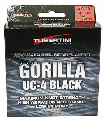 FTM Tubertini Gorilla Schnur UC4 Black 350m 0,16mm - 0,25mm Fishing Tackle Max