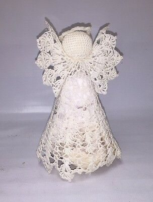 Lovely Crocheted Angel Tree Topper - Classic Tree Topper
