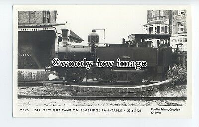 pp2003 - I.O.W. Wroxhall Train on Bembridge Fan-Table, c1928 - Pamlin postcard