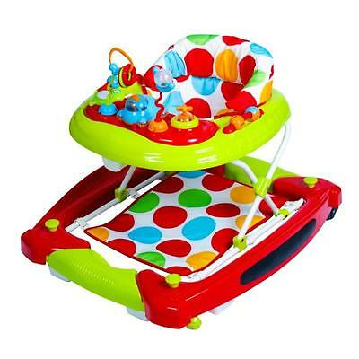 Red Kite Baby Walker Adjustable Height Play Tray Toys Sounds Music Go Round
