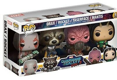 Drax Rocket Face Mantis Guardians of the Galaxy POP! Marvel 4-Pack Figur Funko
