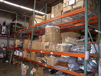 "Warehouse Rack package, 17' x 42"" upright + 5"" Beams + Wired Deck"