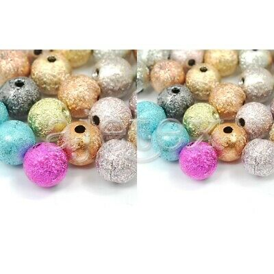 40/130pcs Acrylic Beads Round Stardust Spacer Jewellery Making 8x8x8mm/6x6x6mm