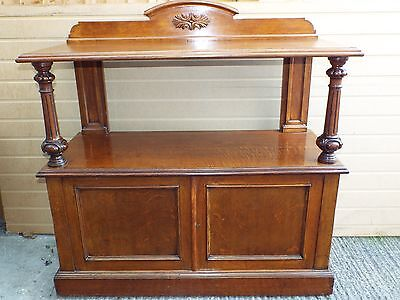 Goodl Victorian Oak Antique Server / Sideboard/ Cupboard/With CELLARETTE