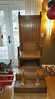 Early Pair of Victorian Shoe Shine Chairs