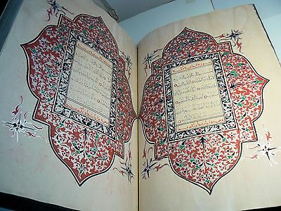 Very Large Highly Illuminated Arabic Manuscript. Complete Quran Book 177 leaves
