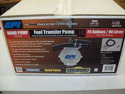 GPI HP-90 Hand Pump Piston Fuel Transfer Pump