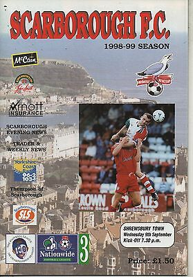 98/99 Scarborough v Shrewsbury Town