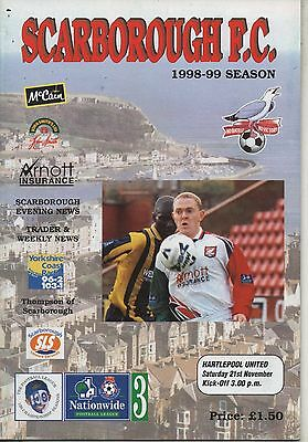 98/99 Scarborough v Hartlepool United