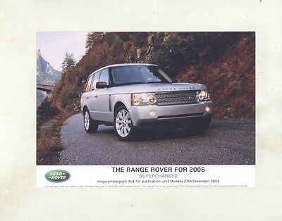 2006 Land Rover Range Rover ORIGINAL Factory Photograph ww8655