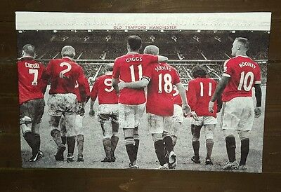 Manchester United - Heroes at Old Trafford - Wall Canvas 63x40cm