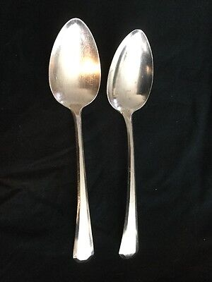 Vtg WM Rogers & Son AA Silver LINCOLN 1917 Pattern Serving Spoons Silverplate