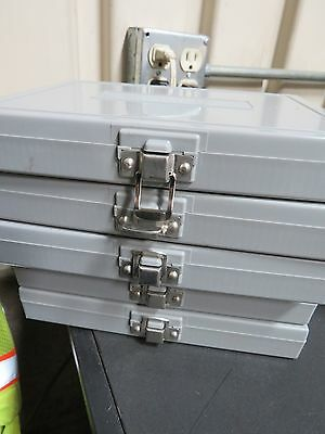 5 - Gray Microscope Slides Containers (New)