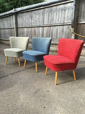 Original Pair Bartholomew Vintage Retro Mid Century Tub Cocktail Chair 50'/60s