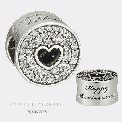 Authentic Pandora Sterling Silver Anniversary Celebration Clear CZ Bead 791977CZ
