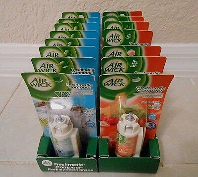 10 Air Wick Freshmatic Compact Spray 2 different  fragranc Refills new