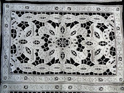 Antique Floral MADEIRA Heavy Cutwork Hand Embroidery 11 Placemats