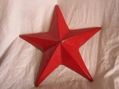 """vintage Texaco metal star 8 1/2"""" from each tip to the center  (PWQ)"""