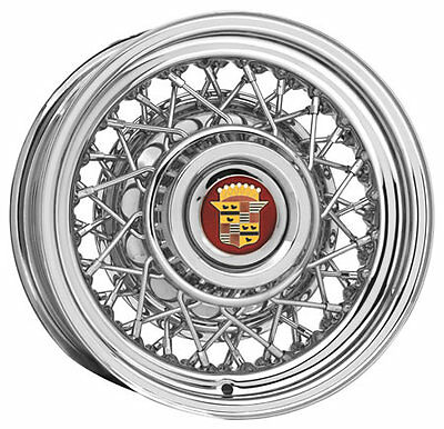 1957 to 1976 Cadillac 15x6 Wire Wheel By Roadster Wire Wheels-Sold Each