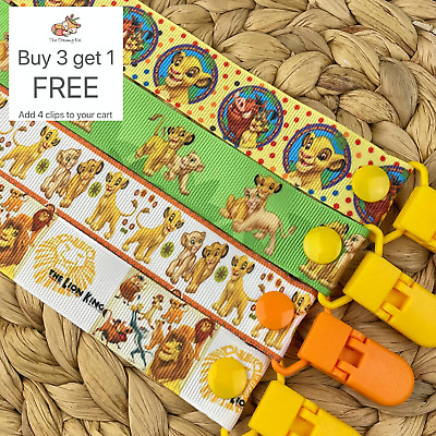 Dummy clip pacifier chain dummie binky baby lion king soother simba saver gift
