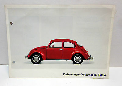 Original 1965 Volkswagen Beetle 1200A dealer sales brochure from Germany