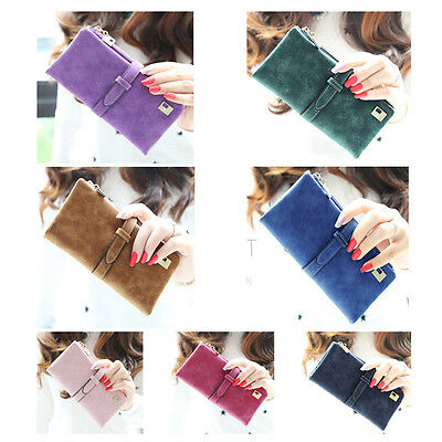 Vogue Women Leather Long Bifold Purse Zipper Clutch Handbag Wallet Card Holder