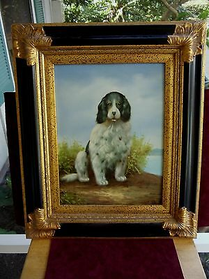 Portrait Of A English Setter Dog ?-- Reproduction --23-1/2 H X 19-1/4 W