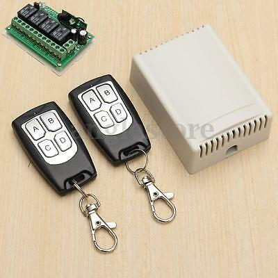 DC 12V 4CH 200M Wireless Remote Control Relay Switch 2 Transmitter + Receiver