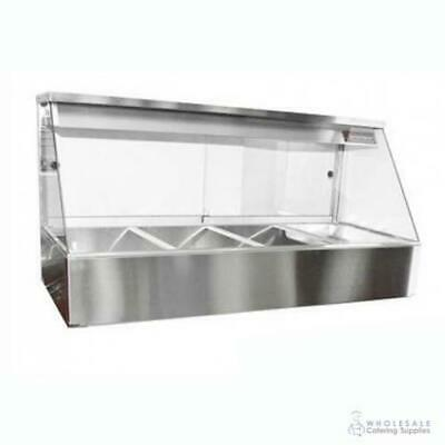 Hot Food Display Angled Front 4 Bay Benchtop Woodson W.HFS24 NO PANS INCLUDED