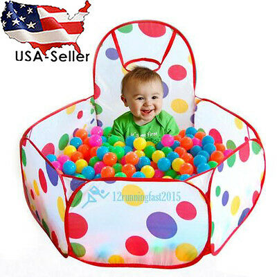 Newly Children Kid Ocean Ball Pit Pool Game Play Tent W/ Ball Indoor /Outdoor US