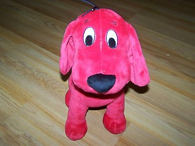 """12"""" Kohls Cares for Kids Clifford the Big Red Dog Plush Stuffed Animal Puppy EUC"""