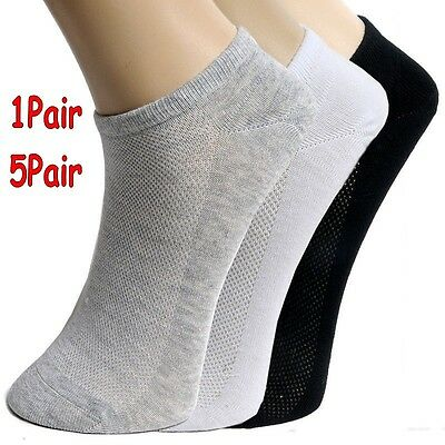1 Pairs Summer Men Ankle Socks Low Cut Crew Casual Sport Cotton Blend Sock Solid