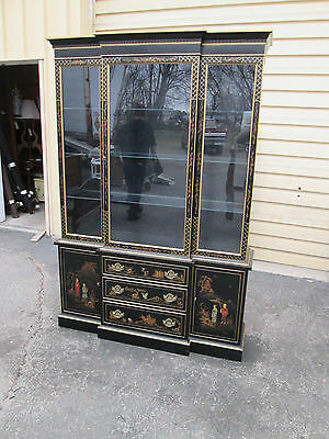 56696   HICKORY Oriental China Cabinet Breakfront Curio