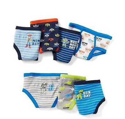 New Toddler Boys 2-3 Yrs Baby Gap Disney Toy Story 7 Pack Briefs Underware 2T 3T