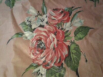 Bolt of antique french cotton pink and TEN complete circa 1920s rare!!